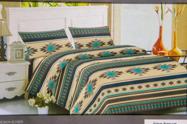 New Morning Native Design Sheet Set Full Brown Mock Up