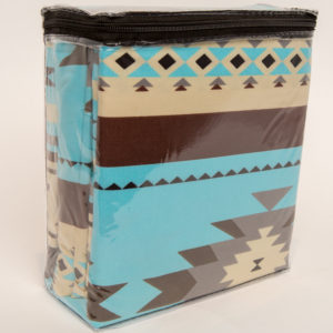 New Morning Native Design Sheet Set Full Turquoise