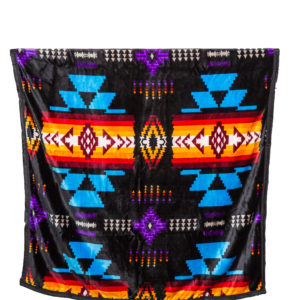 Twin Traditional Native Design Reversible Blanket Reversible