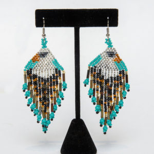 Tulsa Unique Gifts Eagle Fringe Earrings 1