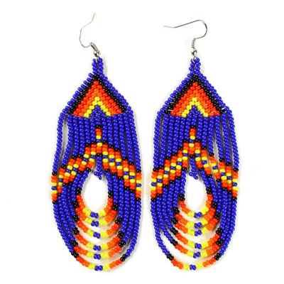 Tulsa Unique Gifts Swoop Earrings Blue EA505 108 2T