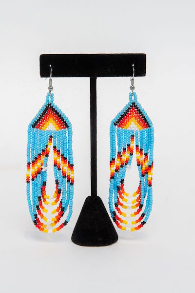 Tulsa Unique Gifts Swoop Earrings Light Blue EA505 114 2T