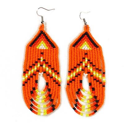 Tulsa Unique Gifts Swoop Earrings Orange EA505 128 2T