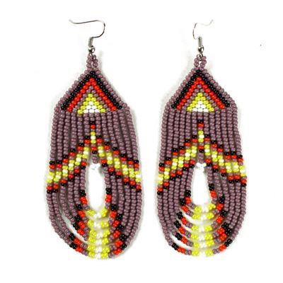 Tulsa Unique Gifts Swoop Earrings Purple EA505 210 2T