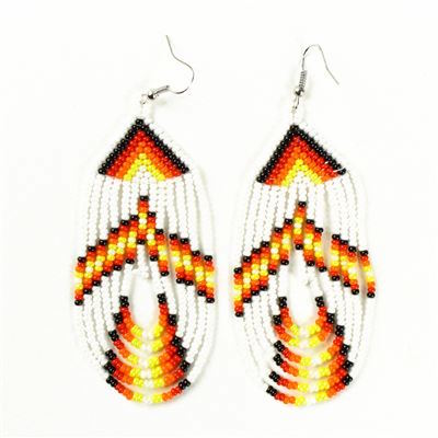 Tulsa Unique Gifts Swoop Earrings White EA505 114 2T